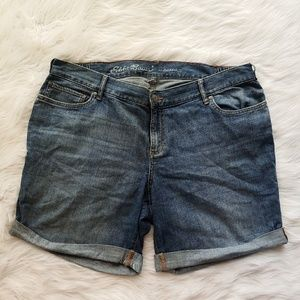 Eddie Bauer Cuffed Boyfriend Denim Shorts